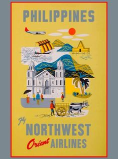 Philippines-Island-Northwest-Orient-Vintage-Travel-Advertisement-Art-Poster