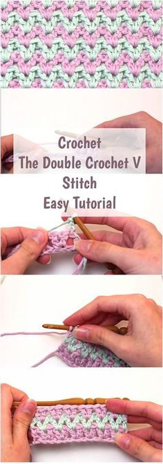 Crochet The Double Crochet V Stitch Easy Tutorial
