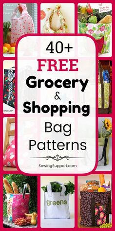 Over 40 diy projects and sewing tutorials for reusable grocery, shopping, and market bags and totes. Styles include large, insulated, lined and foldable bags. Instructions for how to make a grocery or shopping bag. Bag Pattern Free, Bag Patterns To Sew, Sewing Patterns Free, Free Sewing, Diy Sewing Projects, Sewing Tutorials, Free Groceries, Reusable Grocery Bags, Market Bag