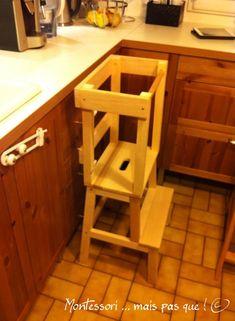 J'avais parlé dans un précédent article de la tour d'observation en demandant à mon mari de bien vouloir la construire à partir d'un marche-pied IKEA en suivant les plans que nous avons trouvé ici ...