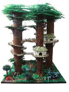 Fan Builds Huge 3-Foot Tall Star Wars Ewok Village