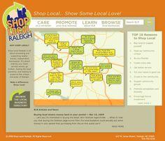 Shop Local Raleigh Website Design and Brand Development by Designbox #designboxweb #designboxprint #designboxbrand #shoplocalraleigh