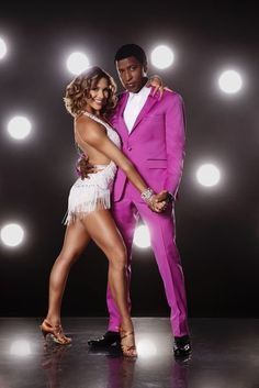 "Here's How the Dancing With the Stars Contestants Look in Their First Sparkly Getups Allison Holker and Kenneth ""Babyface"" Edmonds"