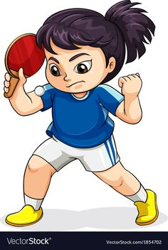 A female Asian playing tabletennis vector image on VectorStock Vector Stock, Vector Free, Table Tennis Player, Cartoon People, Anime Version, Chocolate Art, Stick Figures, Free Time, Handicraft