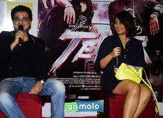 Sanjay Kapoor & Sonakshi Sinha at the Promotion of Hindi movie 'Tevar' at Planet M in Mumbai