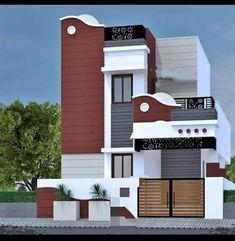 Single Floor House Design, Bungalow House Design, House Front Design, Front Elevation Designs, House Elevation, New Home Designs, Cool House Designs, Modern House Plans, House Floor Plans
