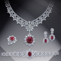 For over a century, Mouawad has been creating unique Masterpieces for its exclusive clientele. Discover our bespoke Masterpiece Collection. Jewelry Design Earrings, Emerald Jewelry, Diamond Jewellery, Ruby And Diamond Necklace, Stylish Jewelry, Luxury Jewelry, Indian Wedding Jewelry, Indian Bridal, Bridal Jewelry Sets