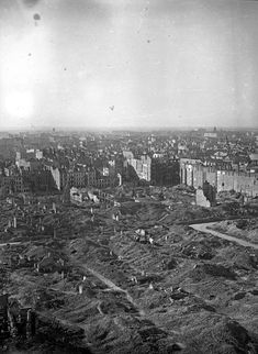Image: Warsaw after the uprising, 1945. So much heartbreak in one picture.