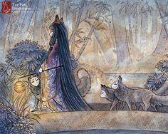 Items similar to Silent Crossing / Fox Girl, Kitsune, Yokai / Japanese Style Art / Fine Art Print on Etsy Art And Illustration, Fuchs Illustration, Fantasy Kunst, Fantasy Art, Art Magique, Art Et Design, Art Asiatique, Fox Girl, Fanarts Anime
