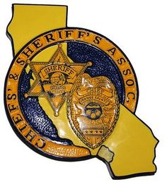 Police Plaque of Chiefs and Sheriff's Association    Wooden seal plaques, custom made starts from $97.95