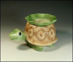 Turtle miniature african violet pot...so cute!