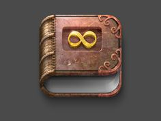A book is a source of infinite possibilities / icon design by Timo Strauß