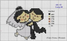 amour - love - mariage - point de croix - cross stitch - Blog : http://broderiemimie44.canalblog.com/