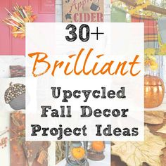 Repurposed and Upcycled Fall Decor Craft Project Ideas for Autumn Fall Crafts, Decor Crafts, Halloween Crafts, Upcycled Crafts, Repurposed, Craft Projects, Project Ideas, Craft Ideas, Alcohol Ink Glass