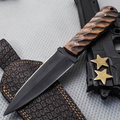 ALONZO KNIVES USA CUSTOM HANDMADE COMBAT DAGGER 1095 KNIFE ROSE WOOD HANDLE 1539 #AlonzoKnives