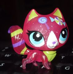 Hasbro Littlest Pet Shop #3155 Special Edition Sweetest Sparkle Plastic Pink Cat #Hasbro