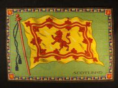Scotland Flag Early 1900s Tobacco Cigar Cigarettes Silks Felt Rug Dollhouse | eBay