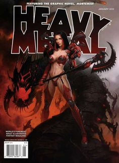 I just found out that my last Heavy Metal magazine cover was nominated for a Chesley. Fantasy Girl, Fantasy Warrior, Fantasy Rpg, Dark Fantasy, Comic Kunst, Comic Art, Comic Books, Character Art, Character Design
