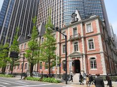 Mitsubishi Ichigokan Museum in Marunouchi,Tokyo.  A recreation of the original office building built in 1894 which was designed by the British architect Josiah Conder.  It was the first Western style office building in the Marunouchi district, spiritual home of the Mitsubishi group and a symbol of its intention to be global right from the start. Sense Of Place, Westerns, Tokyo, Spirituality, Street View, Museum, Japan, Explore, Western Style