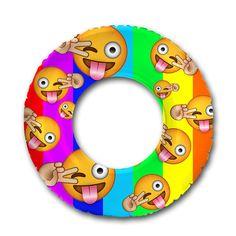 Flonuts Emoji Inflatable Pool Raft Float