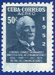 Cuba C71 Stamp - Colonel Sandrino Stamp - C CU C71-2 MNH