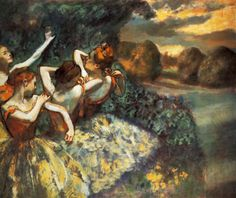 Four Dancers, Edgar Degas 1900
