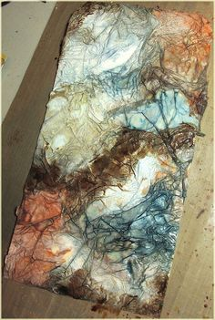 Click twice to see details close up I had some fun playing with tissue paper, multi medium and distress stains with this piece. I had i...