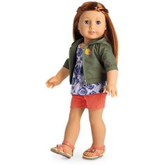 Find doll and girls sports outfits and hobby outfits. 18 inch doll clothes, 15 inch doll clothes, and cute outfits for girls perfect for every occasion at the official American Girl site. American Girl Outlet, American Girl Doll Sets, All American Girl, Girl Doll Clothes, Girl Dolls, Ag Dolls, Girl Clothing, Girl Online, Printed Tank Tops