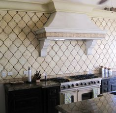 The traditional Moroccan shape adds old world texture without adding a lot of pattern. The tile can look contemporary or antique depending on the material and color you select and the installation process. Tabark Studio.