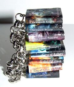 Mortal Instruments Book Charm Bracelet by SplatterPalette on Etsy