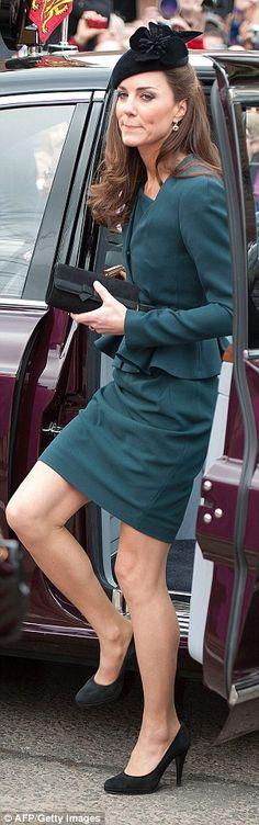 Stylish: The Duchess of Cambridge...