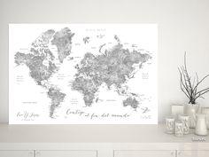 Jimmy: Mapamundi personalizado para marcar viajes, tonos grises de acuarela #DigitalDownload #MapaMundiTipoCorcho #gris #MapaParaChincheta #aventura #MapaDelMundo #EscalaDeGrises #BlancoYNegro #aventureros #corchera #MapaParaViajes #MapaParaPonerChinchetas #acuarela #corkboard #mapa