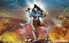 Lord Shiva Tandav Painting