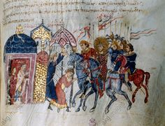 The Varangian Guard, as shown in the Madrid Skylitzes. Around this time, the guard, which protected the Byzantine emperor, was apparently dominated by English warriors who had fled the Norman conquest. (Image by Bridgeman) Varangian Guard, Monumental Architecture, Bayeux Tapestry, Religion, William The Conqueror, Anglo Saxon, Culture, Kaiser, 12th Century