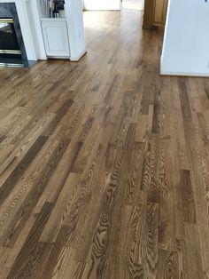 Minwax Weathered Oak Stain On Red Oak Floors Red Oak