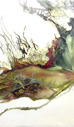 Encaustic art portfolio of Alicia Tormey Alicia paints with a blend of bee's wax, a plant based resin called Damar Gum and organic pigments in a process known as Encaustic Painting. Watercolor Artists, Watercolor Paintings, Art Paintings, Painting Art, Watercolour, L Wallpaper, Wax Art, Alcohol Ink Painting, Alcohol Ink Art