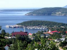 Tadoussac, Quebec is a beautiful place.  There's whale watching, great views, and a lot of relaxation.