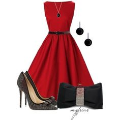 red and black very classie