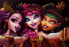 Elissabat, Spectra Vondergeist and Jinafire Long. Ghouls' Getaway  By Holivi