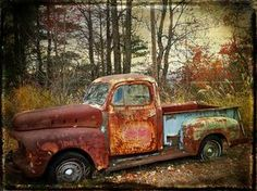 THE LAST DOOR... DOWN THE HALL: Gorgeous old rusty truck - December Already?