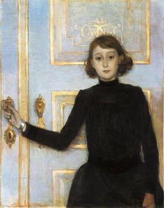 Portrait of Marguerite van Mons,Theo van Rysselberghe, 1886 (Impressionism)