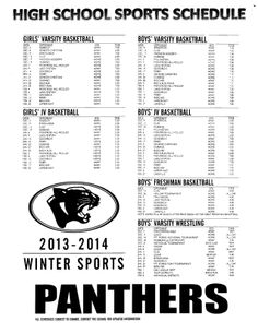 Winter athletics calendar