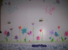 Flower mural i painted in a home