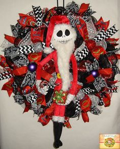 Sandy Claws Christmas Wreath Nightmare Before by StarlightWreaths