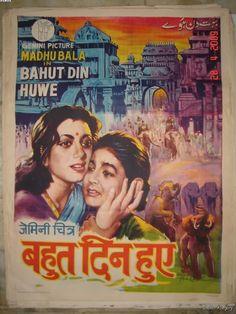 1954+Bollywood+Poster+BAHUT+DIN+HUYE+Gemini+Madhubala