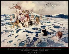 Fine Art Poster sample showing a Warwick Goble illustration from ''The Water-babies: A Fairy Tale for a Land-baby'' (1909)