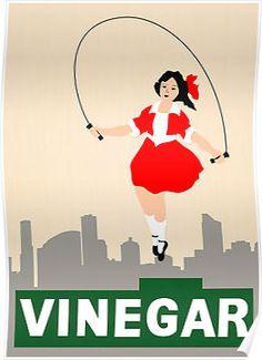 Skipping Girl Vinegar by Vectorlicious