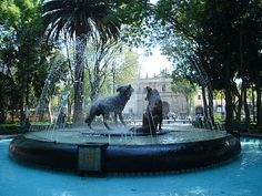 """Coyoacán (Ciudad de México). Its name comes from Nahuatl and most likely means """"place of coyotes"""". It has kept its original layouts, plazas and narrow streets and has conserved its structure, built from the 16th to the early 20th centuries."""