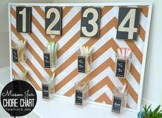 Get Organized in 2014: Make a Popsicle Stick & Mason Jar Chore Chart!