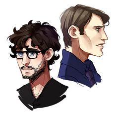 Hannibal Fanart. Will Graham and Hannibal Lecter.